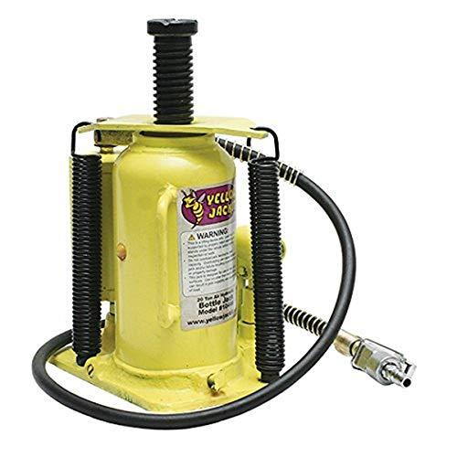Esco 10446 Yellow Jacket Air Hydraulic Bottle Jack, 20 Ton Capacity, 18.75