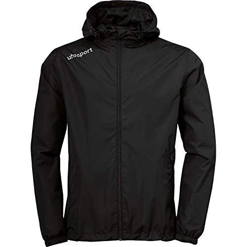 uhlsport Herren Essential Regenjacke Fussball Trainingsbekleidung, schwarz/weiß, 164