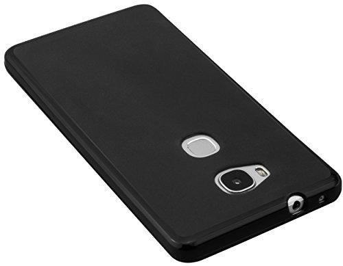 mumbi Hülle kompatibel mit Honor 5X Handy Case Handyhülle, schwarz - 3