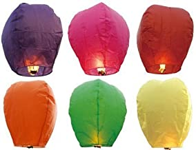 SNOWBIRD Kites 25 Sky Lanterns Called as Hot Air Balloon or Wishing Lanterns for Christmas, Birthday, Events, Occasions Events etc.