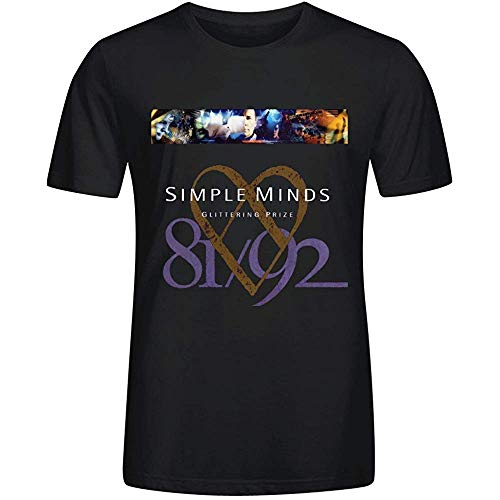 Simple Minds Glittering Prize T-shirt for Men, Black, S to 3XL