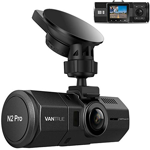 Vantrue N2 Pro Uber Dual 1080P Dash Cam, 2.5K 1440P Front Dash Cam, Front and Inside Car Dash Camera with Infrared Night Vision, 24hr Motion Detection Parking Mode, Accident Record, Support 256GB max