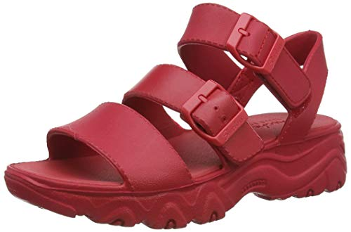 Skechers D'lites 2.0, Sandalias de Punta Descubierta Mujer, Rojo (Red Eva Red), 39 EU