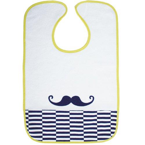 Babycalin Bavoir bbc203616 coton, polyester bleu, blanc, jaune – Bavoirs (coton, polyester, bleu, blanc, jaune, 1 pièce (s), 280 mm, 420 mm, 80 g)