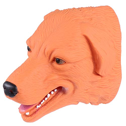 Kisangel Handpuppe Spielzeug Gummipuppe Rollenspiel Tier Hund Kopf Puppen für Kinder Kinder Kleinkind Party Bevorzugen Spielzeugzubehör