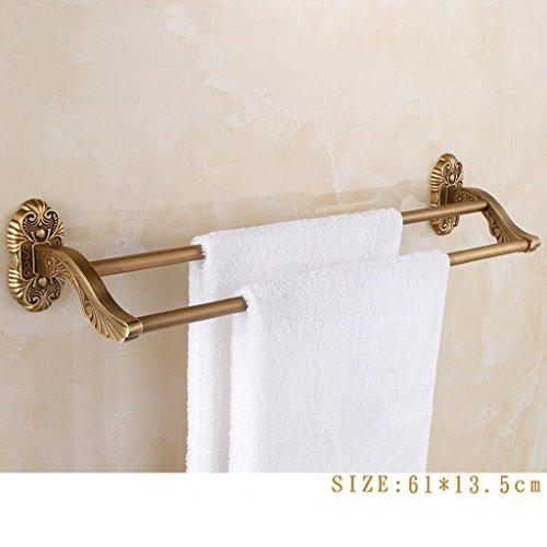 Ensemble de quatre pièces en acier inoxydable rétro couleur cuivre (porte-serviettes pliant + support de téléphone + barre de serviette double + brosse de toilette) Rollsnownow (Couleur : C)
