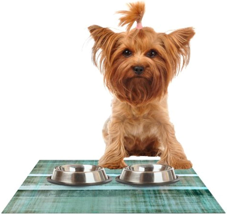 Kess InHouse CarolLynn Tice Line Up  Feeding Mat for Pet Bowl, 18 by 13Inch