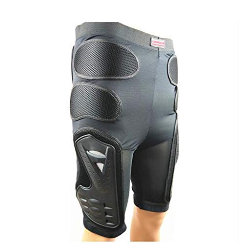 Jtoony-SP Rüstung Kleidung Motorrad-Schutzausrüstung Offroad-Anti-Fall-Hosen Ski-Windelhosen (Farbe : Schwarz, Größe : XL)