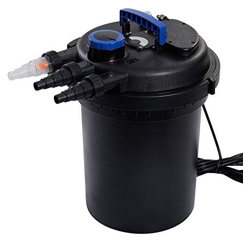 Pond Pressure Bio Filter 4000GAL W/ 13W UV Sterilizer Light 10000L Koi Water TKT-11