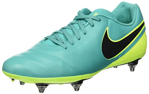 Nike Tiempo Genio II Leather SG, Scarpe da Calcio Uomo, Multicolore (Clear Jade/Black-Volt), 40 EU
