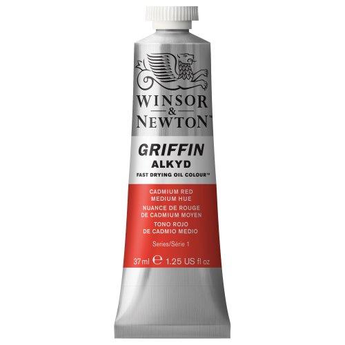 Winsor & Newton Griffin Alkyd - Tubo óleo de secado rápido, 37 ml, Tono Rojo de Cadmio Medio