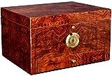 La Caja de Puros está sellada y Puede Contener 50 deshumidificadores refrigerados, particiones portátiles y Almacenamiento Doble (Color: marrón) Caja Decorativa (Color: marrón, tamaño: 28 * 16 * 22
