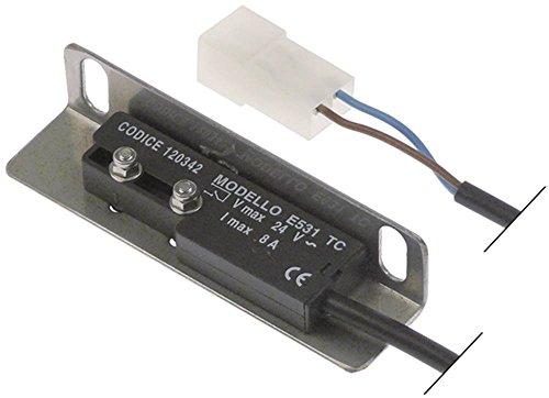 Comenda Magnetschalter für Spülmaschine AC122, AC152, AC182, AC202, AC242, AC151 1NO Anschluss kodierter Stecker 24V Länge 65mm