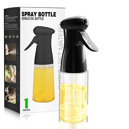 Olive Oil Sprayer for Cooking, Peanut Oil Spray Bottle Mist Air Fryer Sprayers Spritzer 7oz 210ml Food Grade Kitchen Cooking Oil Pump BPA Free Oil Sprayer Mister for BBQ Roasting Salad Baking
