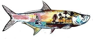 Florida Tarpon Fishing Wall Art Print, Fisherman Gift Idea, Saltwater fishing Artwork, Landscape Fish Painting Print, Choice of Sizes Hand Signed By Jack Tarpon.