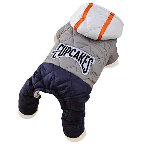 Shiningbaby Hund Winter warme Mantel gemütliche Haustier Kleidung Hoodies Daunenanzug Overall Kostüme