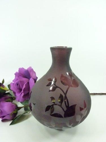 Bezaubernde Glasvase Amphora klein Tischvase Dekovase Vase aus Glas