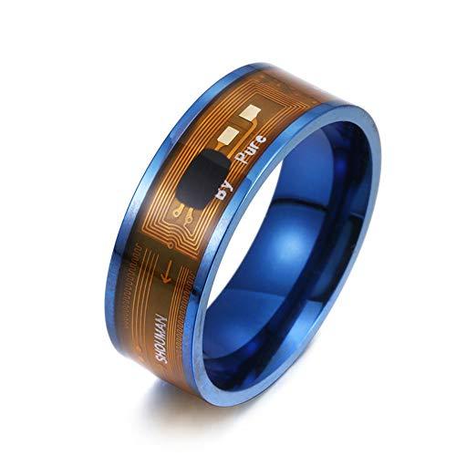 JN-341 Smart Ring Neue Technologie Magic Finger für Android Windows NFC Phone Smart Zubehör (Blau, 10)