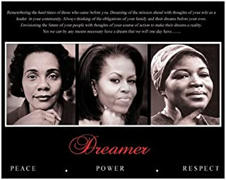 Dreamer (Trio): Peace, Power, Respect Art Poster Print (Overall Size: 10x8) (Image Size: 9.5x7.5) King Obama Shabazz