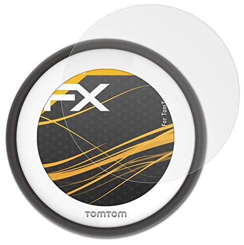 atFoliX Película Protectora Compatible con Tomtom VIO Lámina Protectora de Pantalla, antirreflejos y amortiguadores FX Protector Película (3X)