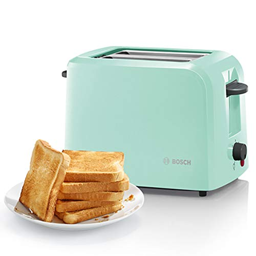 Bosch TAT3A012GB Country 2 Toaster, 980 W, Mint Green