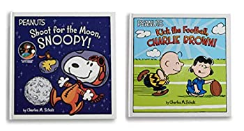 Hardcover Kohls Cares Peanuts Shoot from the Moon, Snoopy! and Kick The Football, Charlie Brown! Book