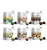 MUST 96 Capsule Solubili MISTI Variety Pack Degustazione, 6 Pack da 16 Capsule, Cialde Autoprotette Compatibili con Macchina / Macchinetta Nescafè Dolce Gusto, Made in Italy, Senza Glutine