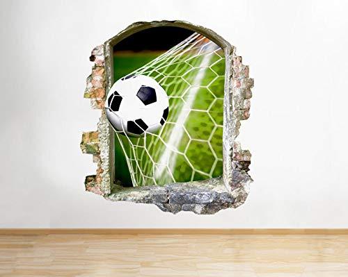 Q754 Fußballtor Schlafzimmer Sport Fenster Wand Aufkleber 3D Art Aufkleber Vinyl RoomLarge