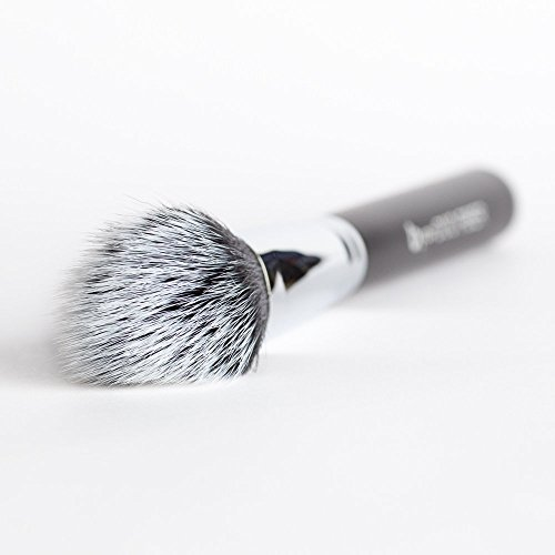 pro Duo Fiber Stippling Brush for Liquid Foundation or Contouring with Bronzer, Highlighters or Luminizers: Short & Long Bristles for Soft Blending, Buffing; Works with Creams, Powders, Minerals