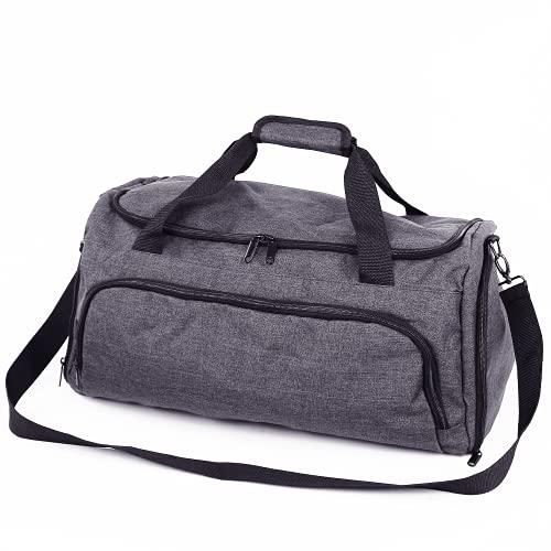 GSN Global Sports Netwrok Sporttasche mit 6 Fächern & praktischem Schuhfach - Reisetasche für Damen & Herren (53x25x26cm) inkl. gepolstertem Tragegurt