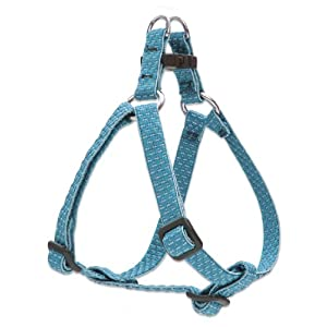 LupinePet Eco 1/2″ Tropical Sea 12-18″ Step In Harness for Small Dogs
