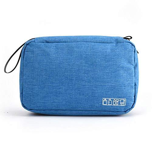 JYDQM Bolsa de Aseo de Viaje Colgante para Hombres y Mujeres Bolsa de Maquillaje Bolsa de cosméticos Bolsa de Almacenamiento de baño Organizador de Ducha (Color : Sky Blue)