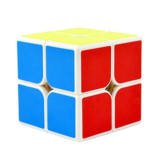 Easygame Cubo mágico 2X2 Moyu Lingpo Cubo de Velocidad Puzzle Colección de Colores Blanco