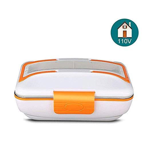 Multifunctionele elektrische verwarming Lunchbox Voedselverwarmer met verwijderbare roestvrijstalen container met 3 compartimenten en verschillende oplaadmethoden Voedsel Schoolwerk Reis Lunchboxhoud
