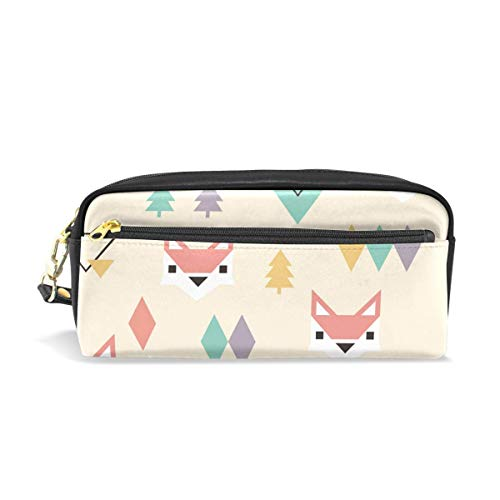 Yuanmeiju Mäppchen Triangle Foxes Student Stationery Pen Mäppchen Holder Bag for School Office Storage Organizer