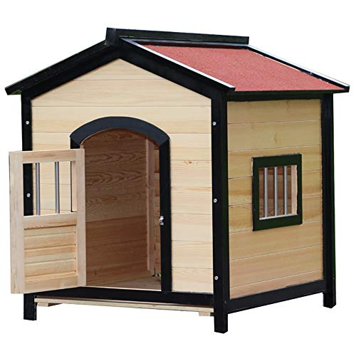 LiangDa Outdoor Pet House Pet Shelter Puppies And Dogs Cat Castle For Outdoor Indoor Outdoor Pet Shelter (Color : Natural, Size : 75x68x76cm)