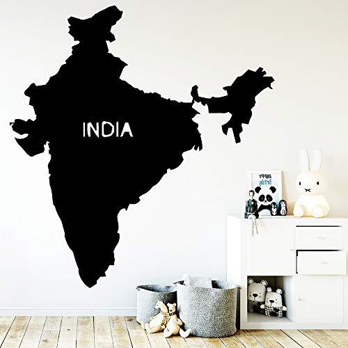 YuanMinglu Kreative Indien Karte Wandaufkleber Wohnkultur Wohnzimmer Schlafzimmer Wand Hintergrund Kunst Dekor 36X37,2 cm