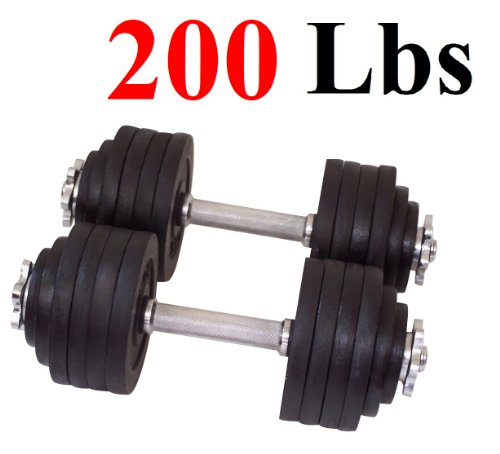 One Pair of Adjustable Dumbbells Kits-200lbs(2x100lbs)