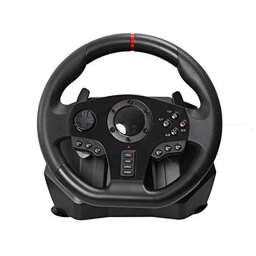 SJZC Volant, Volant de Jeu d'ordinateur, Ergonomique, Compatible avec PC / PS3 / 4 / Xbox One/Android