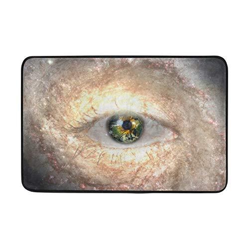Alfombras de área Antideslizantes Galaxy Stars Moon Planetas Ojos Felpudos para Sala de Estar Hogar Dormitorio Alfombra Decorativa para Piso de 23.6x15.7 Pulgadas