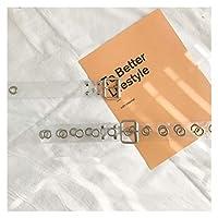 バンド 全ボタンホールベルト女性パンクリベットピンバックルベルトウエスト樹脂プラスチックPVCパンツジーンズ透明ベルト メンズベルト (Color : Style 2 Transparent)