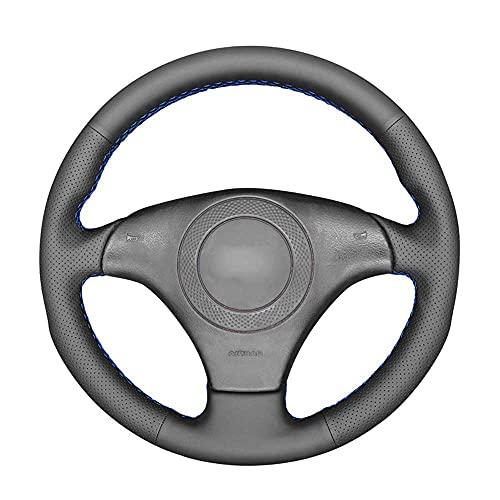 SAXTZDS Cubierta de Volante Negra Cosida a Mano para Coche, Apta para Audi TT (8N) 1998-2001 A8 S8 (D2) 1998-2002 S4 (B5)