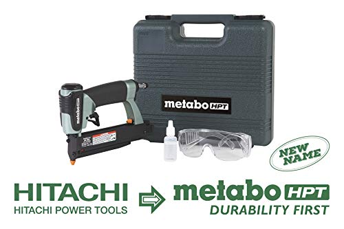 Metabo HPT Pin Nailer Kit, 23 Gauge, Pin Nails - 5/8' to 1-3/8', No Mar Tip - 2, Depth Adjustment,...