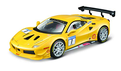 Bburago Ferrari 488 Challenge - Maqueta de Coche a Escala 1:43, Serie Ferrari Racing, Caja de Regalo, 12 cm, Color...