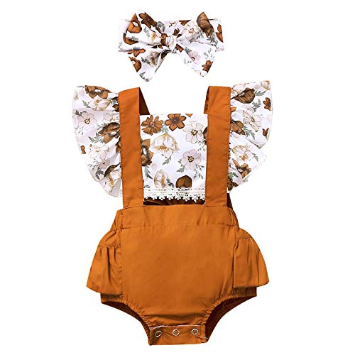 DaMohony Conjunto de trajes de princesa con estampado floral para niñas