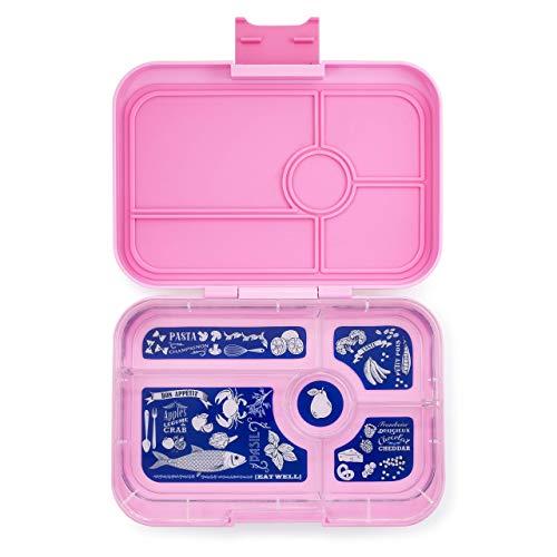 Yumbox Tapas XL Lunchbox – Bento Box für Erwachsene (Stardust Pink, 5er Bon Appetit) | Unterteilte Brotdose | Auslaufsicher getrennte Fächer