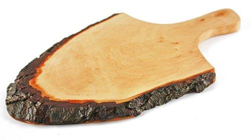 Vesperplank, broodplank, schors plank/met handvat, lengte 36-41 cm