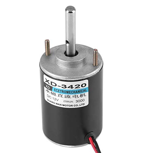 Fiween (24V 6000RPM 12V 30W CW/CCW High Speed Low Noise für DIY Generator XD-3420 Permanent Magnet DC Motor Reversible Elektrogetriebemotor