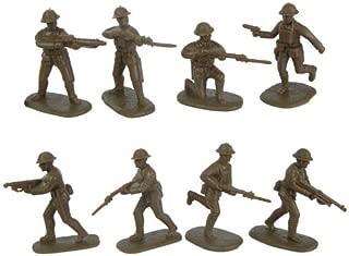 Armies in Plastic WWI US Army Doughboys: 16 Khaki Brown 54mm Army Men