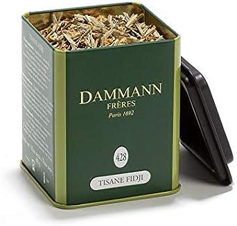 Dammann Tisane Fidji - Infusión de limón y jengibre, Lata de 100 gr - Dammann Frères